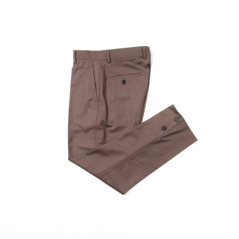 Placket Trousers(Brown)