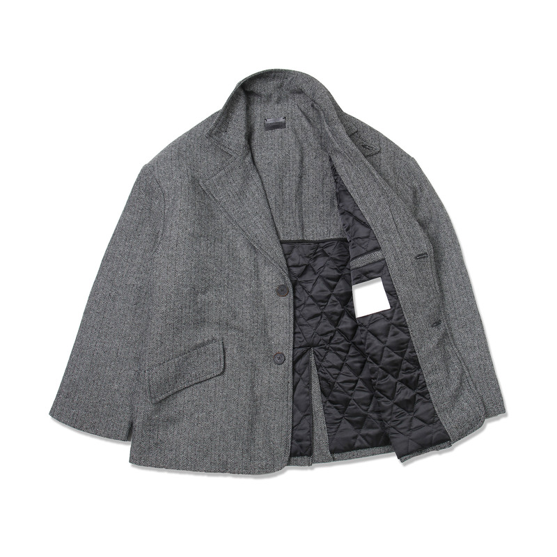 Herringbone Over Suit Jacket(Gray)