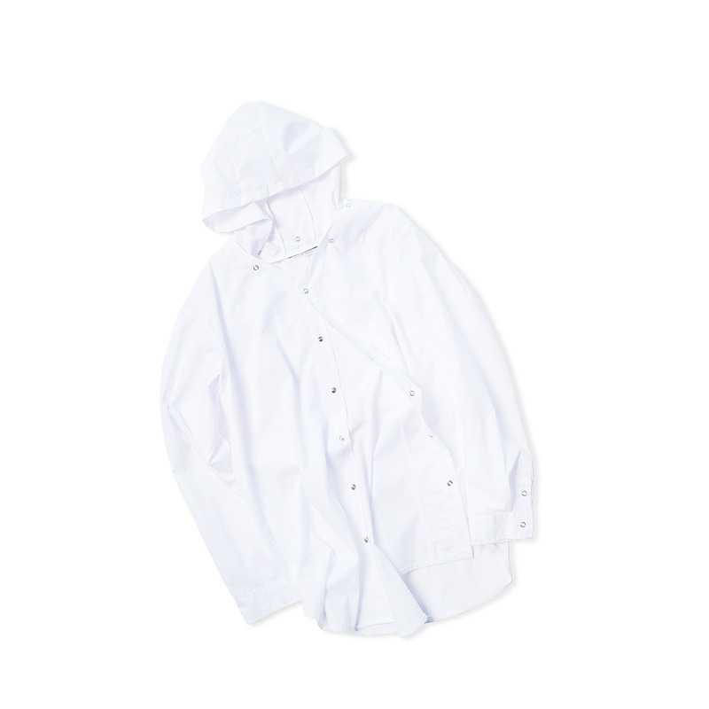 Attach Hood Shirts(White)