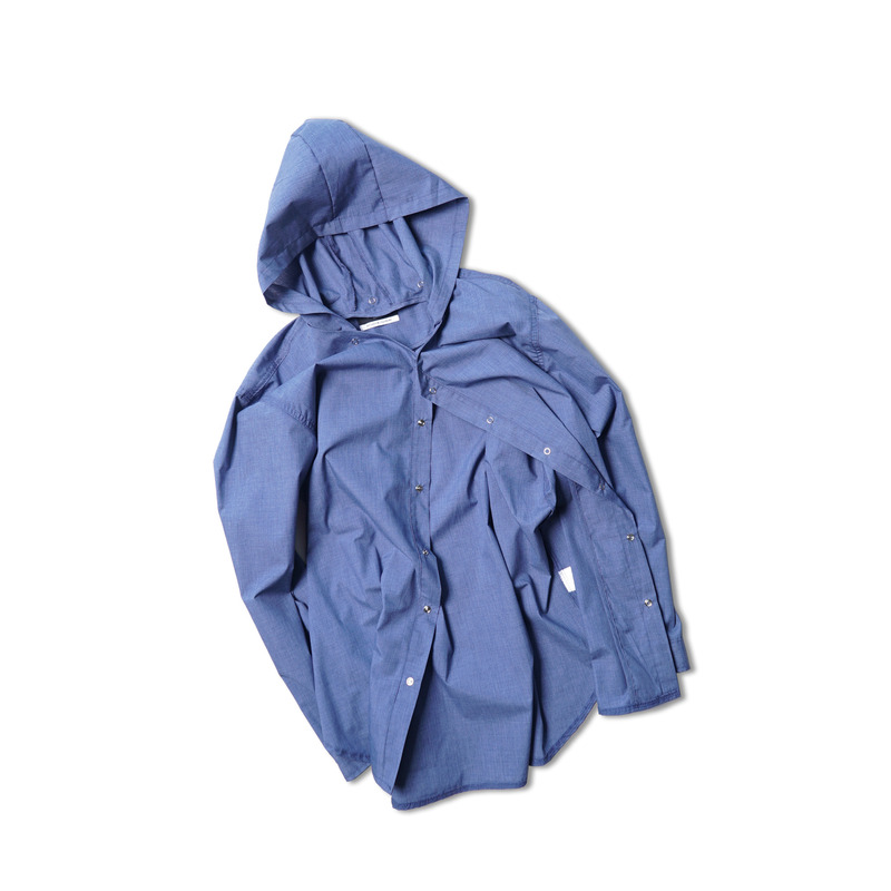 Attach Hood Shirts(Blue)