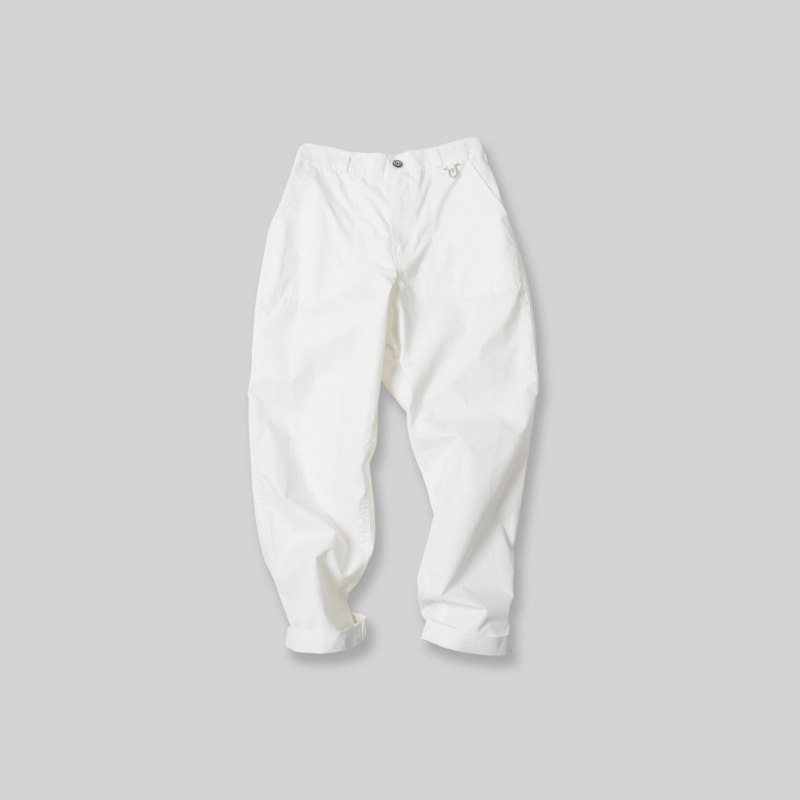 Usual Cropped Pants_White